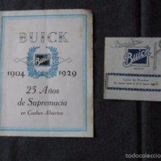 Coches y Motocicletas: BUICK 1904 1929 GENERAL MOTORS 25 AÑOS EN COCHES ABIERTOS + LISTA DE PRECIOS. Lote 58612881