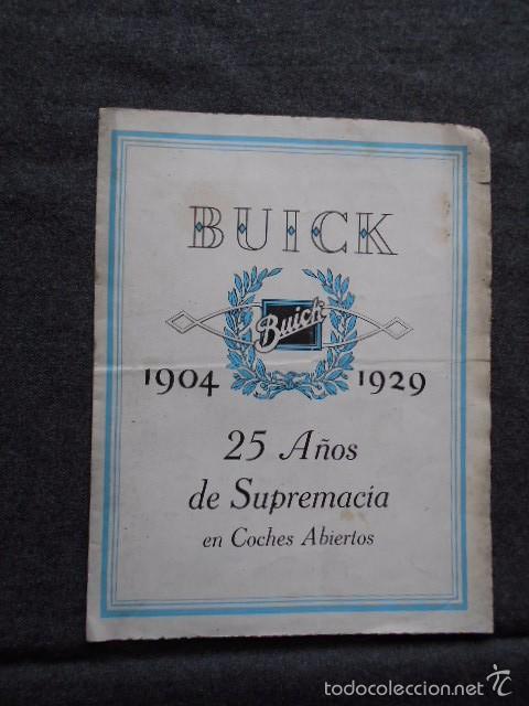 Coches y Motocicletas: buick 1904 1929 General Motors 25 años en coches abiertos + lista de precios - Foto 2 - 58612881