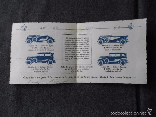Coches y Motocicletas: buick 1904 1929 General Motors 25 años en coches abiertos + lista de precios - Foto 7 - 58612881
