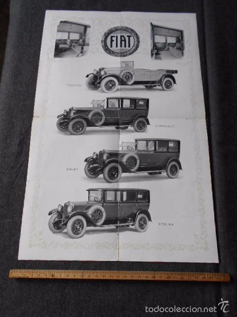 Coches y Motocicletas: fiat 512 1927 Catálogo Desplegable En Póster. En castellano - Foto 2 - 58617653