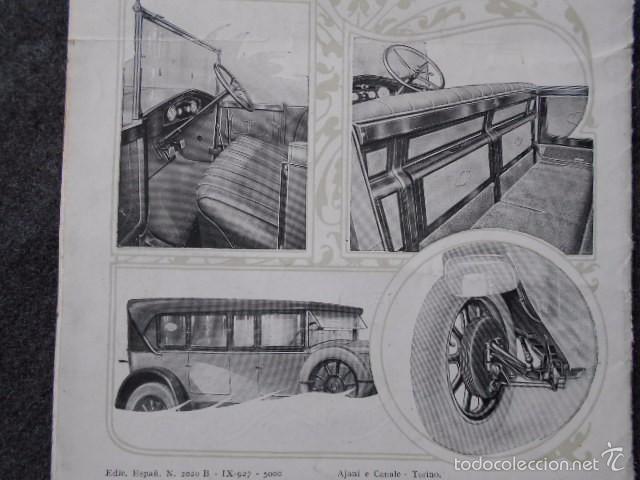 Coches y Motocicletas: fiat 512 1927 Catálogo Desplegable En Póster. En castellano - Foto 8 - 58617653