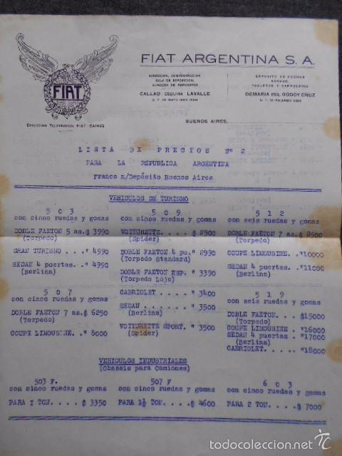 Coches y Motocicletas: fiat 512 1927 Catálogo Desplegable En Póster. En castellano - Foto 14 - 58617653