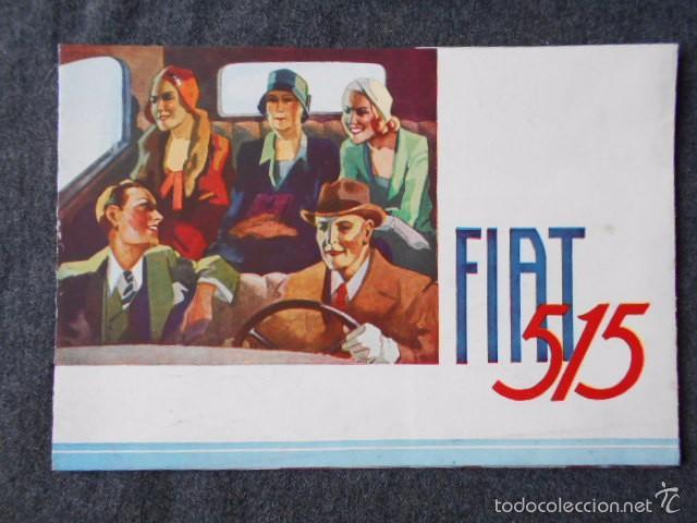 FIAT 515 MUY LINDO CATÁLOGO. EN CASTELLANO, EXCELENTE. (Coches y Motocicletas Antiguas y Clásicas - Catálogos, Publicidad y Libros de mecánica)