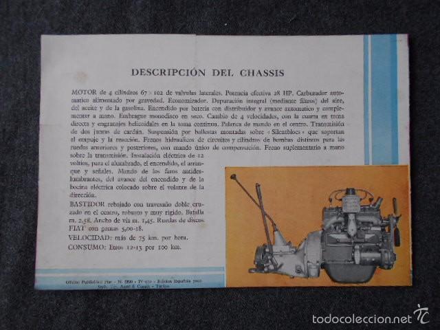 Coches y Motocicletas: fiat 515 Muy lindo Catálogo. En castellano, excelente. - Foto 2 - 58617656