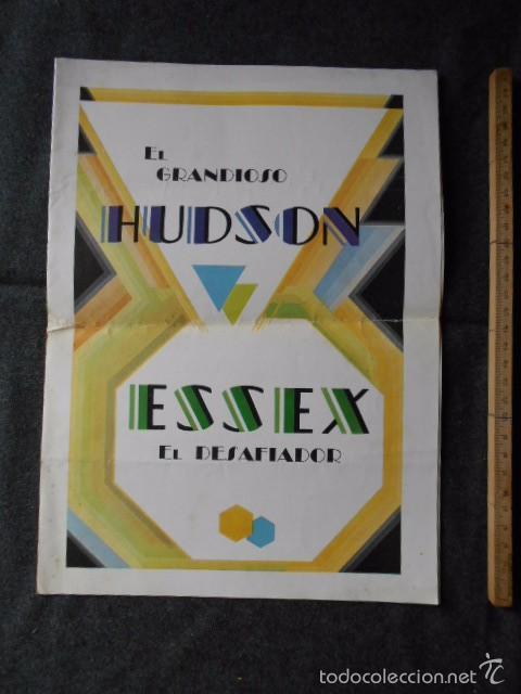 HUDSON ESSEX CATÁLOGO PÓSTER DE AUTO ANTIGUO EN CASTELLANO (Coches y Motocicletas Antiguas y Clásicas - Catálogos, Publicidad y Libros de mecánica)