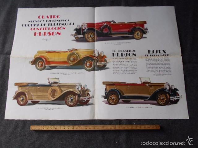 Coches y Motocicletas: hudson essex catálogo póster de auto antiguo en castellano - Foto 3 - 58630134