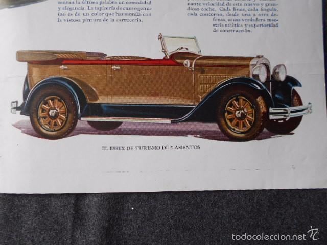 Coches y Motocicletas: hudson essex catálogo póster de auto antiguo en castellano - Foto 6 - 58630134