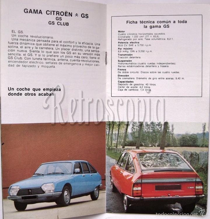 Coches y Motocicletas: CATALOGO PUBLICIDAD CITROEN MEHARI 2CV6 DYANE AKS AK 500 GS BREAK PALAS CX GAMA 1977 EN CASTELLANO - Foto 2 - 58637357