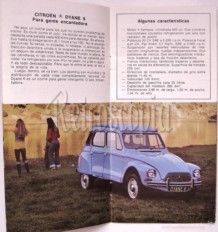 Coches y Motocicletas: CATALOGO PUBLICIDAD CITROEN MEHARI 2CV6 DYANE AKS AK 500 GS BREAK PALAS CX GAMA 1977 EN CASTELLANO - Foto 3 - 58637357