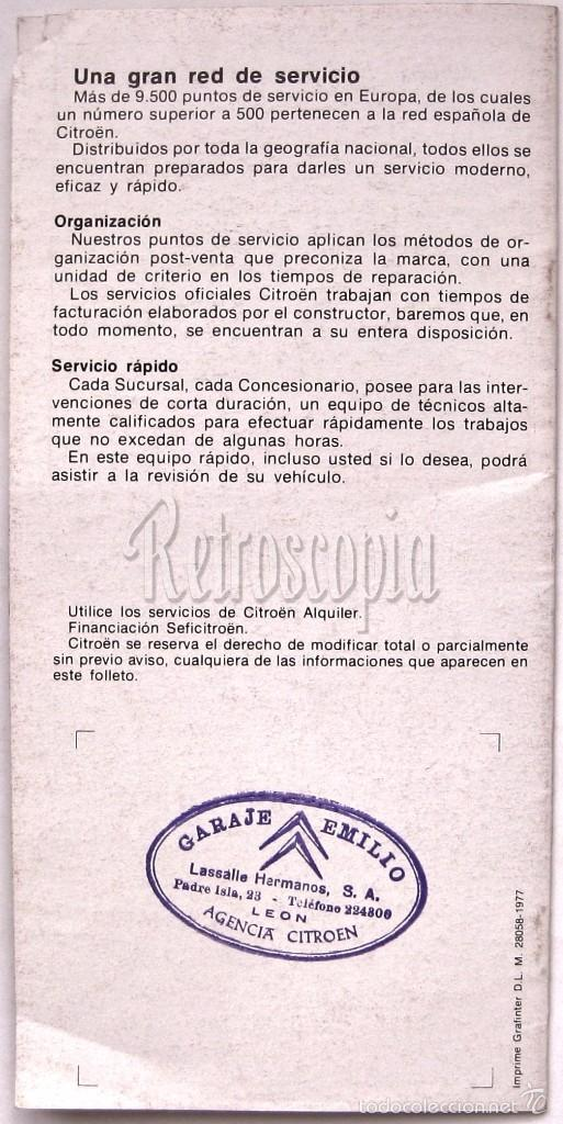 Coches y Motocicletas: CATALOGO PUBLICIDAD CITROEN MEHARI 2CV6 DYANE AKS AK 500 GS BREAK PALAS CX GAMA 1977 EN CASTELLANO - Foto 5 - 58637357