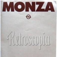 Coches y Motocicletas: CATALOGO DIPTICO PUBLICIDAD OPEL MONZA AÑO 1981 EN CASTELLANO . Lote 105288266