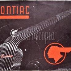 Coches y Motocicletas: CATALOGO PUBLICIDAD AUTOMOVILES PONTIAC MODELOS DEL AÑO 1935 EN CASTELLANO. Lote 58638386