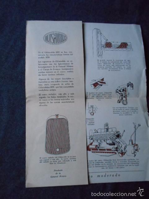 Coches y Motocicletas: Olddsmobile 1929 Catálogo de detalles mecánicos y lista de precios General Motors - Foto 5 - 58642911