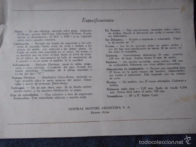 Coches y Motocicletas: Olddsmobile 1929 Catálogo de detalles mecánicos y lista de precios General Motors - Foto 6 - 58642911