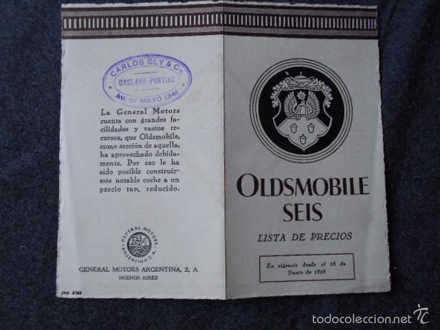 Coches y Motocicletas: Olddsmobile 1929 Catálogo de detalles mecánicos y lista de precios General Motors - Foto 10 - 58642911
