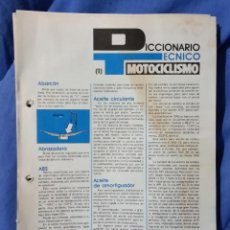 Coches y Motocicletas: DICCIONARIO TÉCNICO DE MOTOCICLISMO - 1981 - COMPLETO - 152 PGS - REVISTA MOTOCICLISMO. Lote 58650256