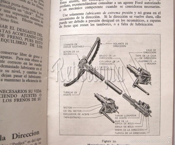 Coches y Motocicletas: CATALOGO PUBLICIDAD MANUAL DE USO INSTRUCCIONES PARA EL COCHE FORD PREFECT AÑO 1950 EN CASTELLANO - Foto 5 - 58665576