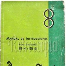 Coches y Motocicletas: CATALOGO PUBLICIDAD MANUAL DE USO INSTRUCCIONES BARREIROS DIESEL EB-4 EB-6 AÑO 1958 EN CASTELLANO . Lote 58665788