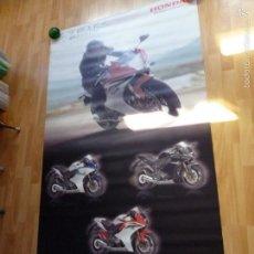 Coches y Motocicletas: RARO CARTEL PUBLICIDAD HONDA MOTO CBR600F DISPLAY ORIGINAL CONCESIONARIO GRAN TAMAÑO 185 CMS TELA. Lote 58841631