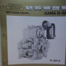 Coches y Motocicletas: CATALOGO TECNICO ORIGINAL MOTOR DIESEL MWM DITER D 327-2. Lote 58935065