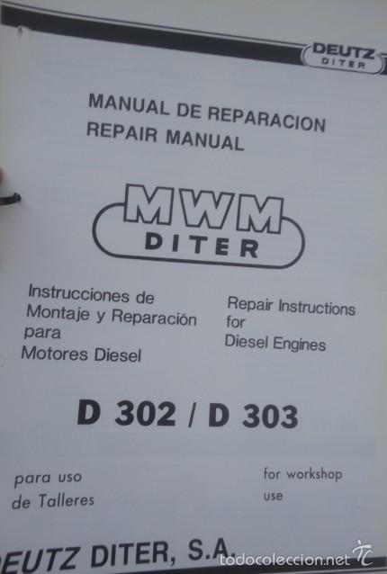 Motor Deutz d302-1 2 /& 3 Cilindros Motor taller Manual de servicio-D 302