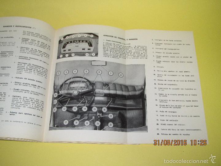 Coches y Motocicletas: Antiguo Manual de Uso y Entretenimiento del SEAT 850 D del Año 1972 - Foto 2 - 59757880