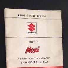Coches y Motocicletas: MANUAL LIBRO DE INSTRUCCIONES SUZUKI MAXI. Lote 166860965