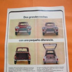 Coches y Motocicletas: PUBLICIDAD 1972 - COLECCION COCHES - CITROEN 8. Lote 60112759