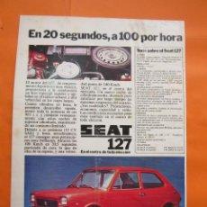 Coches y Motocicletas: PUBLICIDAD 1972 - COLECCION COCHES - SEAT 127 - . Lote 60112971