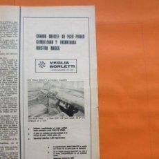 Coches y Motocicletas: PUBLICIDAD 1972 - COLECCION COCHES - SEAT 1430 CLIMATIZADO CON VEGLIA BORLETTI. Lote 60113387