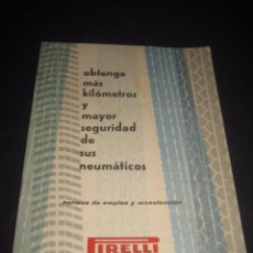 Coches y Motocicletas: CATALOGO MANUAL NEUMATICOS PIRELLI. ORIGINAL AÑO 1959. Lote 60304551