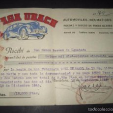 Coches y Motocicletas: CASA UBACH AUTOMOVILES NEUMATICOS Y RUEDAS. BORRELL 96, BARCELONA 1946. . Lote 60375827