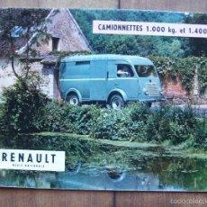 Coches y Motocicletas: RENAULT CAMIONNETTES/ FURGONETAS CATALOGO ORIGINAL 1955. Lote 60544999