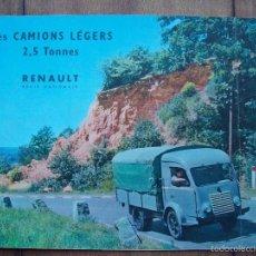Coches y Motocicletas: RENAULT CAMIONES CAMIONS CATALOGO ORGINAL 1955. Lote 60545239