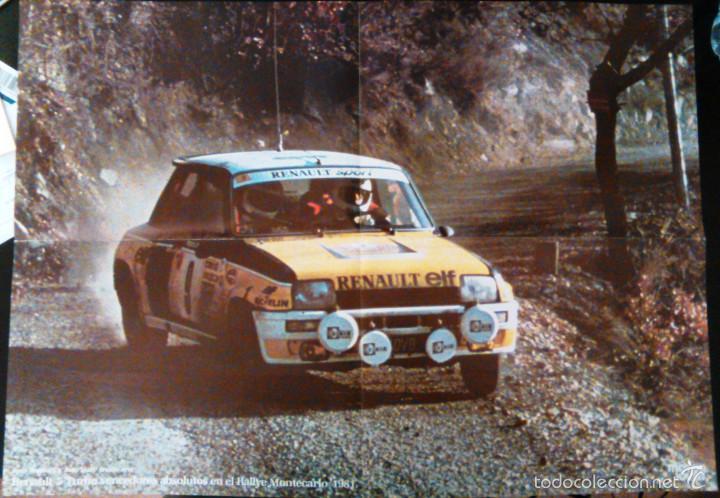 POSTER: RENAULT 5 TURBO RALLYE MONTECARLO 1981. LÁMINA DE 57X41CM DEL CLÁSICO COCHE DE RALLYES. (Coches y Motocicletas Antiguas y Clásicas - Catálogos, Publicidad y Libros de mecánica)