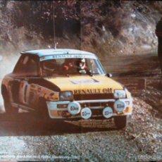 Coches y Motocicletas: POSTER: RENAULT 5 TURBO RALLYE MONTECARLO 1981. LÁMINA DE 57X41CM DEL CLÁSICO COCHE DE RALLYES.. Lote 60684571