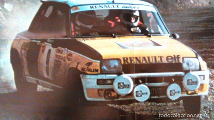 Coches y Motocicletas: Poster: Renault 5 Turbo Rallye Montecarlo 1981. Lámina de 57x41cm del clásico coche de rallyes. - Foto 2 - 60684571