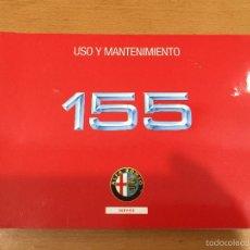 Coches y Motocicletas: ALFA ROMEO 155 USO Y MANTENIMIENTO. Lote 60781555