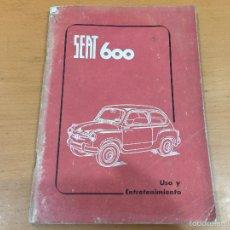 Coches y Motocicletas: SEAT 600 LIBRO DE USO Y MANTENIMIENTO DE 1959. Lote 60781767