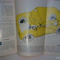 Coches y Motocicletas: SEAT 124 D MANUAL DE USUARIO USO Y ENTRETENIMIENTO. AÑO 1971. Lote 60816823