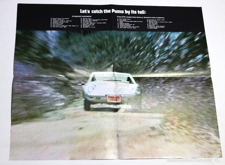 Coches y Motocicletas: Folleto publicitario deportivo clásico PUMA GTE - Foto 4 - 60954947
