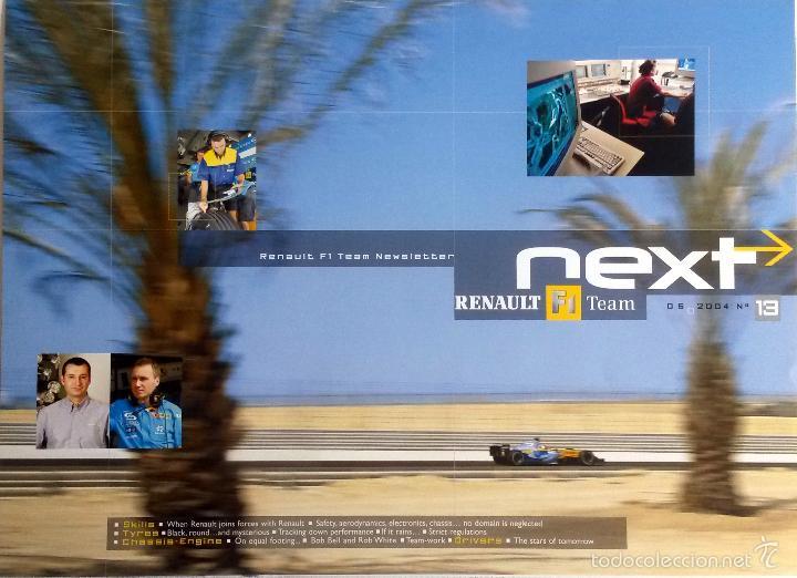 NEXT RENAULT F1 TEAM - BOLETIN OFICIAL Nº 13 - MAYO 2004. TEXTO EN INGLÉS. (SIN CD) (Coches y Motocicletas Antiguas y Clásicas - Catálogos, Publicidad y Libros de mecánica)