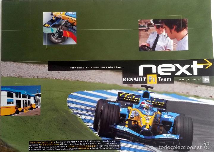 NEXT RENAULT F1 TEAM - BOLETIN OFICIAL Nº 15 - SEPTIEMBRE 2004. TEXTO EN INGLÉS. (SIN CD) (Coches y Motocicletas Antiguas y Clásicas - Catálogos, Publicidad y Libros de mecánica)
