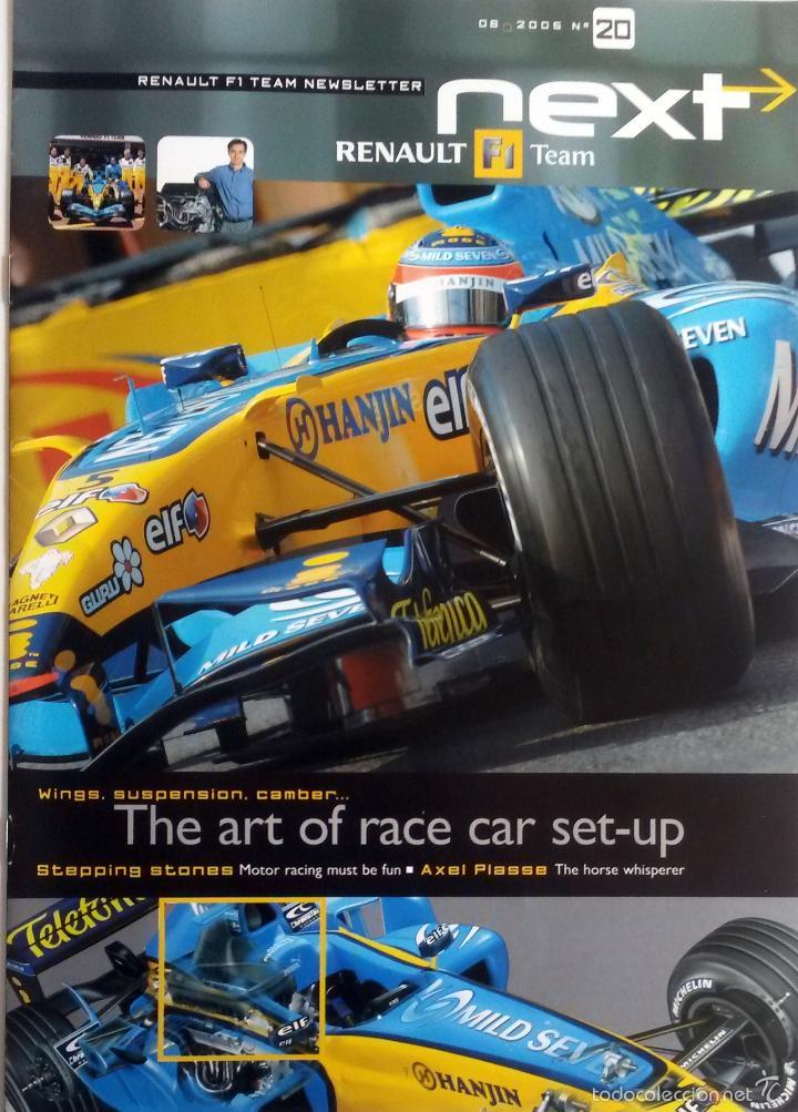 NEXT RENAULT F1 TEAM - BOLETIN OFICIAL Nº 20 - JUNIO 2005. TEXTO EN INGLÉS. (Coches y Motocicletas Antiguas y Clásicas - Catálogos, Publicidad y Libros de mecánica)
