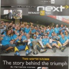Coches y Motocicletas: NEXT RENAULT F1 TEAM - BOLETIN OFICIAL Nº 24 - OCTUBRE 2005. TEXTO EN INGLÉS.. Lote 61273247