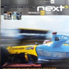 Coches y Motocicletas: NEXT RENAULT F1 TEAM - BOLETIN OFICIAL Nº 21 - JULIO 2005. TEXTO EN INGLÉS.. Lote 61329479
