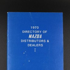 Coches y Motocicletas: DIRECTORIO MAZDA DE DISTRIBUIDORES Y VENDEDORES AÑO 1970. Lote 61494135