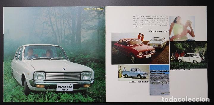 Coches y Motocicletas: Catálogo MAZDA años 70. Varios modelos. - Foto 4 - 61508763