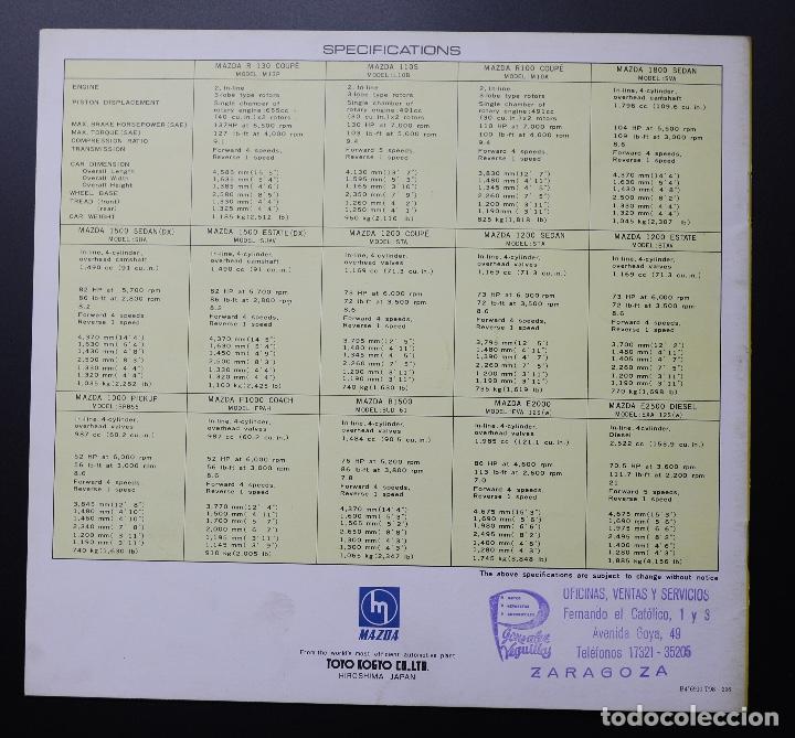 Coches y Motocicletas: Catálogo MAZDA años 70. Varios modelos. - Foto 7 - 61508763