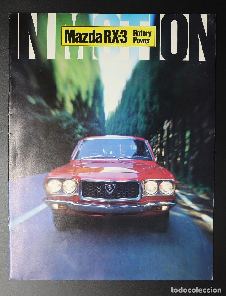 CATÁLOGO MAZDA RX-3 ROTARY POWER (MOTOR ROTATIVO WANKEL) AÑOS 70. GRAN FORMATO. (Coches y Motocicletas Antiguas y Clásicas - Catálogos, Publicidad y Libros de mecánica)